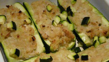 Ricetta: Barchette di zucchine al granchio