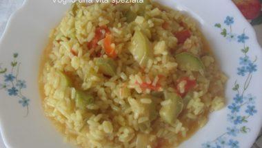 Risotto con zucchine e peperoni