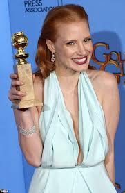 jessiva chastain golden globes 2013