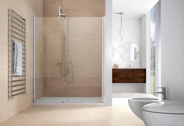 Doccia di design per un bagno raffinato for Layout bagno padronale con cabina doccia