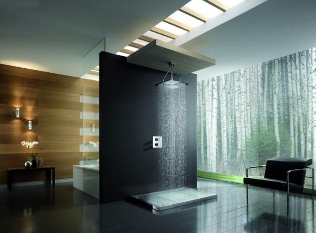 Doccia di design per un bagno raffinato