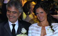 Andrea Bocelli ha sposato Veronica Berti