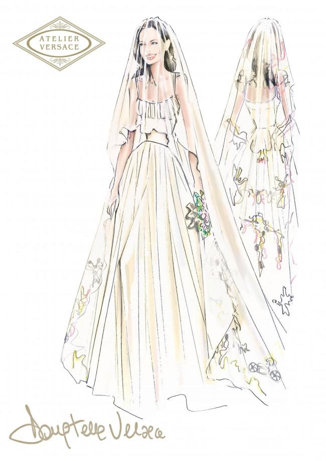 abito da sposa di Angelina Jolie