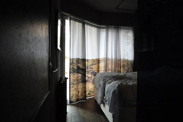 il paesaggio in una tenda