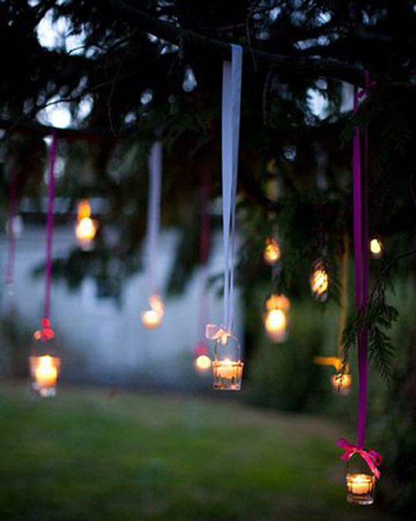 ecco l'effetto del riciclare barattoli di vetro trasformandoli in lanterne