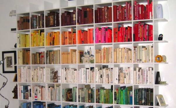 dividere un ambiente casalingo con libreria