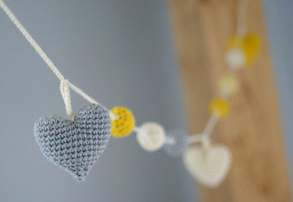 ghirlande di lana come regalo di san valentino
