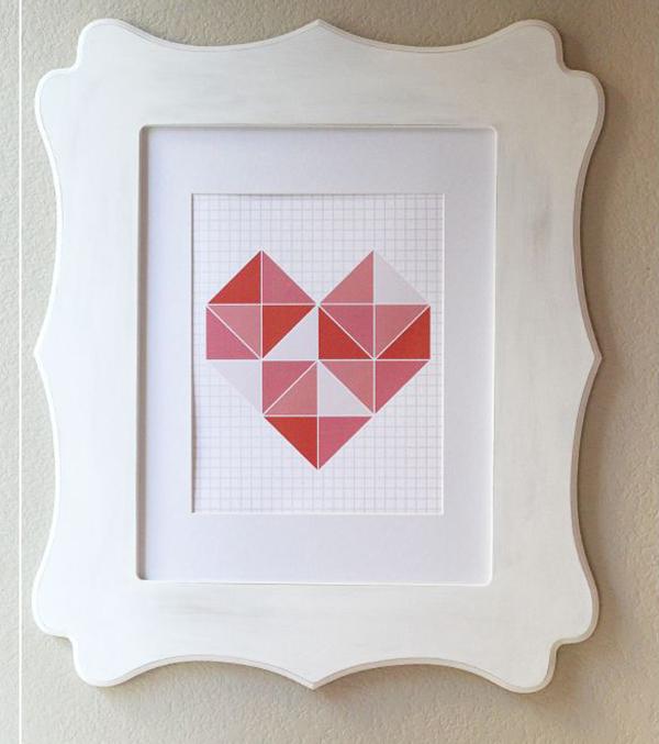 regalo di san valentino, un quadro autoprodotto