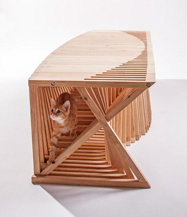 La passione dei gatti per il design: la soluzione di Edgar-Arceneaux