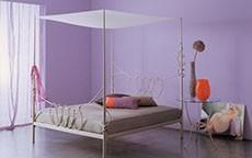 Il letto a baldacchino di design
