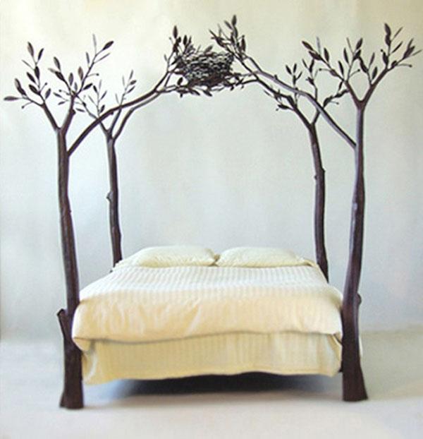 """letto a baldacchino di design """"treebed"""""""