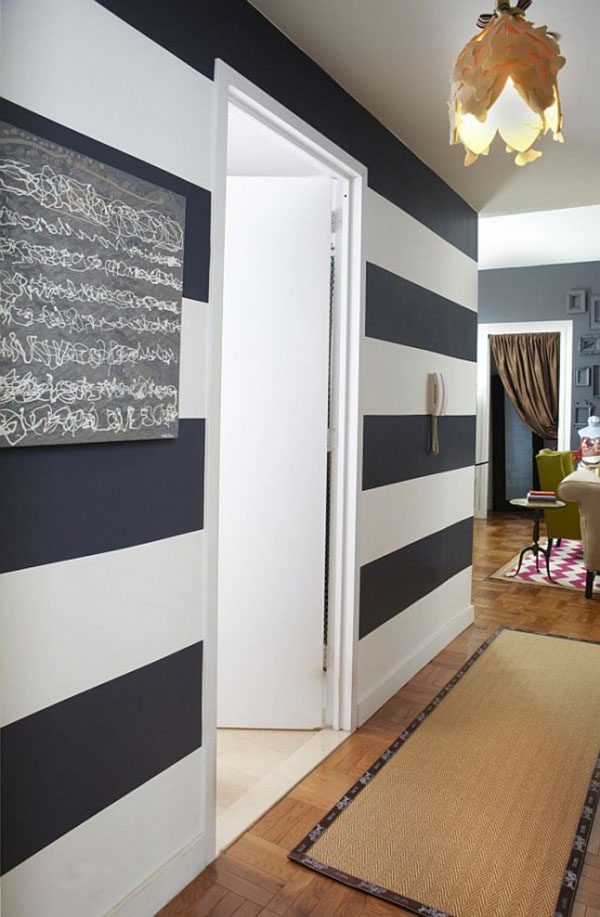 non solo arredamento a righe, anche intere pareti