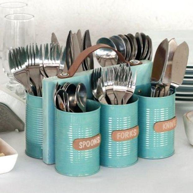 organizzare la cucina con il riciclo creativo