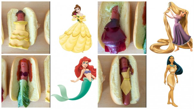 principesse Disney diventano Hot Dog