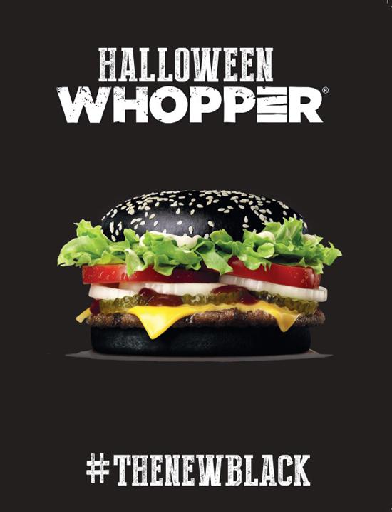 Burger King lancia Halloween Whopper