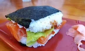 sushi burger