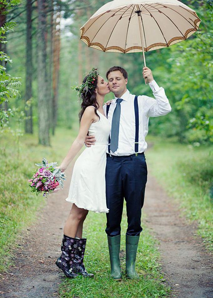 Matrimonio a prova di pioggia