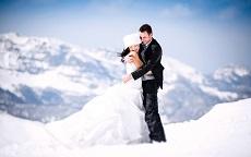 Sposarsi sulla neve