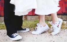 sneakers personalizzate per gli sposi